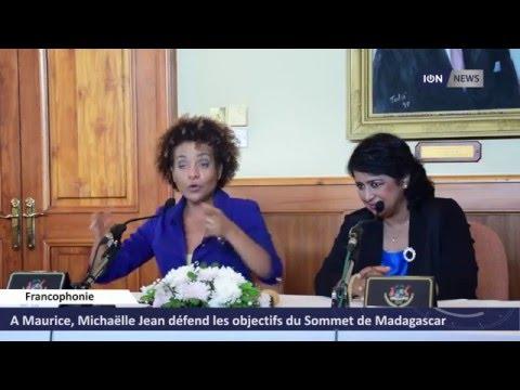 A Maurice, Michaëlle Jean défend les objectifs du Sommet de Madagascar