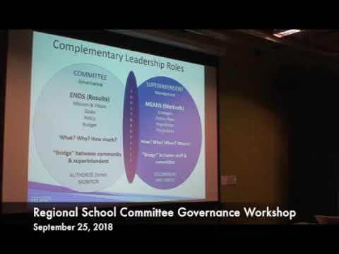 Regional School Committee Governance Workshop 09.25.18