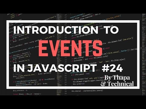 JavaScript Tutorial In Hindi #24: Events In JavaScript In Hindi | JavaScript Events Tutorial