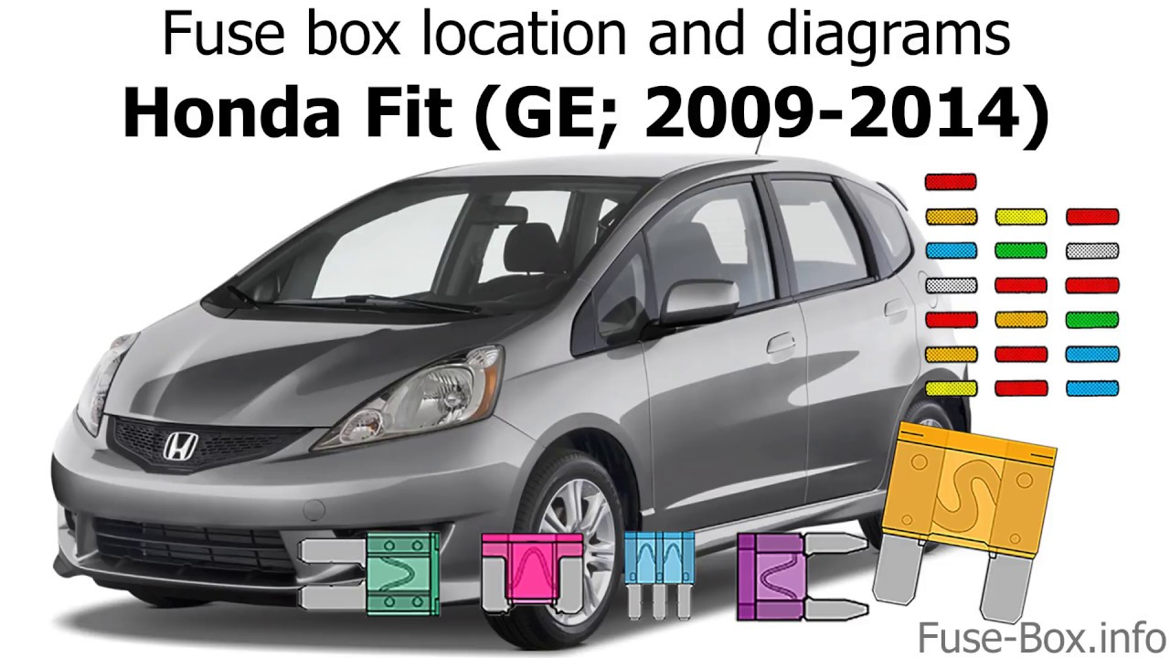 fuse box location and diagrams honda fit ge 2009 2014 youtubefuse box location [ 1280 x 720 Pixel ]