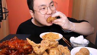 뚜란) BHC후라이드 양념 치킨 먹방KOREAN FRI…