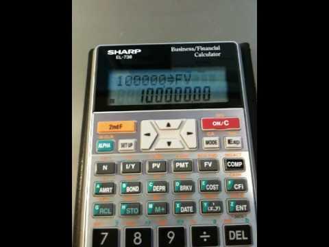 calculate bond present value using sharp el738 and el733a youtube rh youtube com sharp el-738 financial calculator instructions sharp el-738 financial calculator instructions
