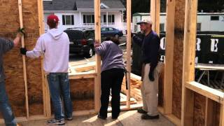 Wall Raising At Carter Way