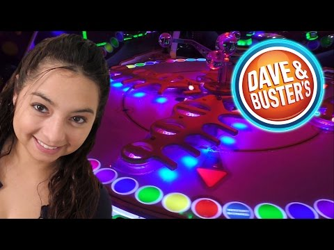 Playing Games At Dave & Buster's - Arcade Fun