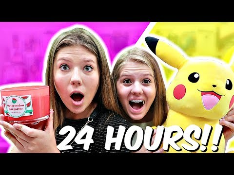 Buying ANYTHING in ONLY one COLOR for 24 HOURS || Taylor and Vanessa