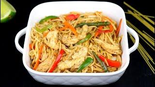রেস্টুরেন্টের মতো স্বাদে চিকেন নুডুলস রেসিপি | Bangladeshi Chinese Chicken Noodles| Chicken Noodles