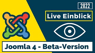 Joomla 4 - Live Einblick in die Beta-Version