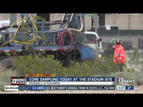 Core samples taken from preferred Raiders stadium site in Las Vegas