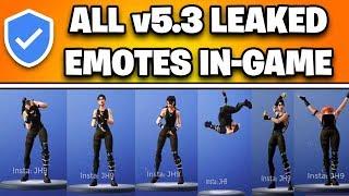 *NEW* Fortnite: ALL LEAKED EMOTES IN-GAME GAMEPLAY! (v.5.3 Leaked Emotes!)