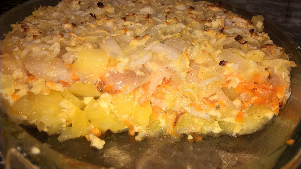 как запечь картошку с рыбой в духовке