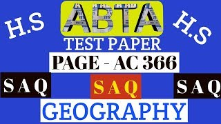 Download ABTA test paper | Geography SAQ | Page AC 366 | HS 2020
