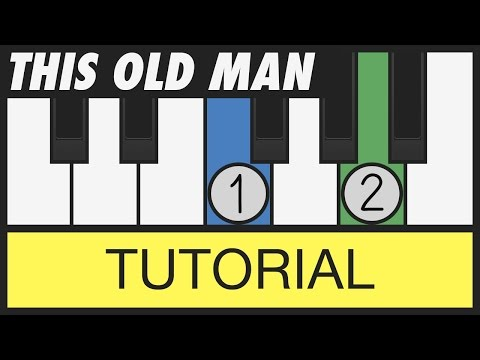 This Old Man (Barney - I Love You) - Easy Piano Tutorial