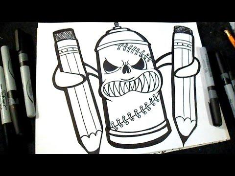 Cómo Dibujar Una Lata De Spray Con Lapices Graffiti Zäxx