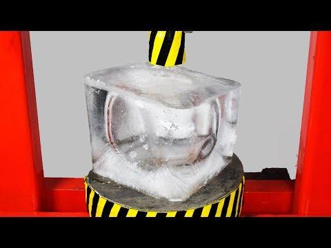 EXPERIMENT HYDRAULIC PRESS 100 TON vs ICE CUBE 20KG