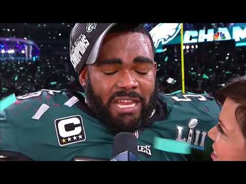 Brandon Graham Field Interview after Winning Super Bowl LII  | Patriots vs Eagles