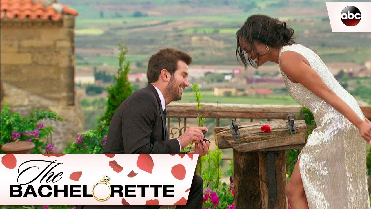 Bryan Proposes to Rachel - The Bachelorette - YouTube