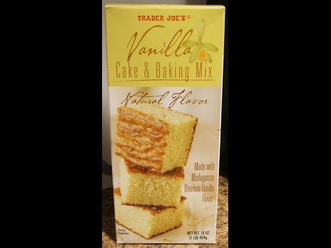 Trader Joe's Vanilla Cake & Baking Mix Prep & Review