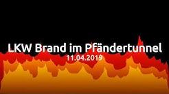 LKW Brand im Pfändertunnel