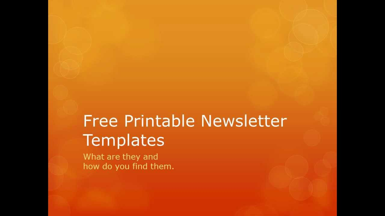 free printable newsletter templates searching for free printable