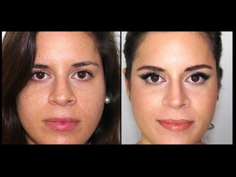 maquillaje para afinar la nariz