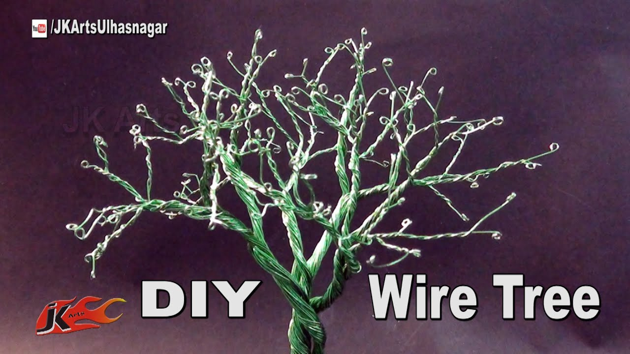 DIY Wire Tree Tutorial | How to make | JK Arts 1017 - YouTube