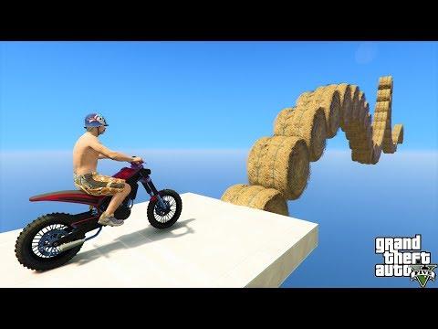 قراند 5 : باركور دباب صحراوي ماب البرسيم🐸🐸 GTA 5 - Desert Bike Parkour