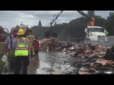Waste Management Truck Catches Fire On A1a