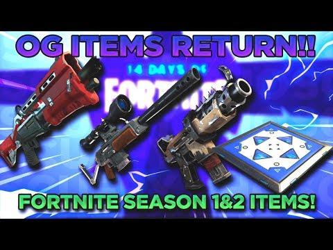 Fortnite Season 1 & 2 Guns Back In Game! Bouncers, Tac SMG, Golden Bolt & More!!!
