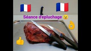 """3 Séance d'épluchage """"La boule de macreuse"""""""