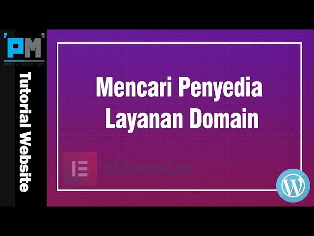 Mencari Penyedia Layanan Domain #5