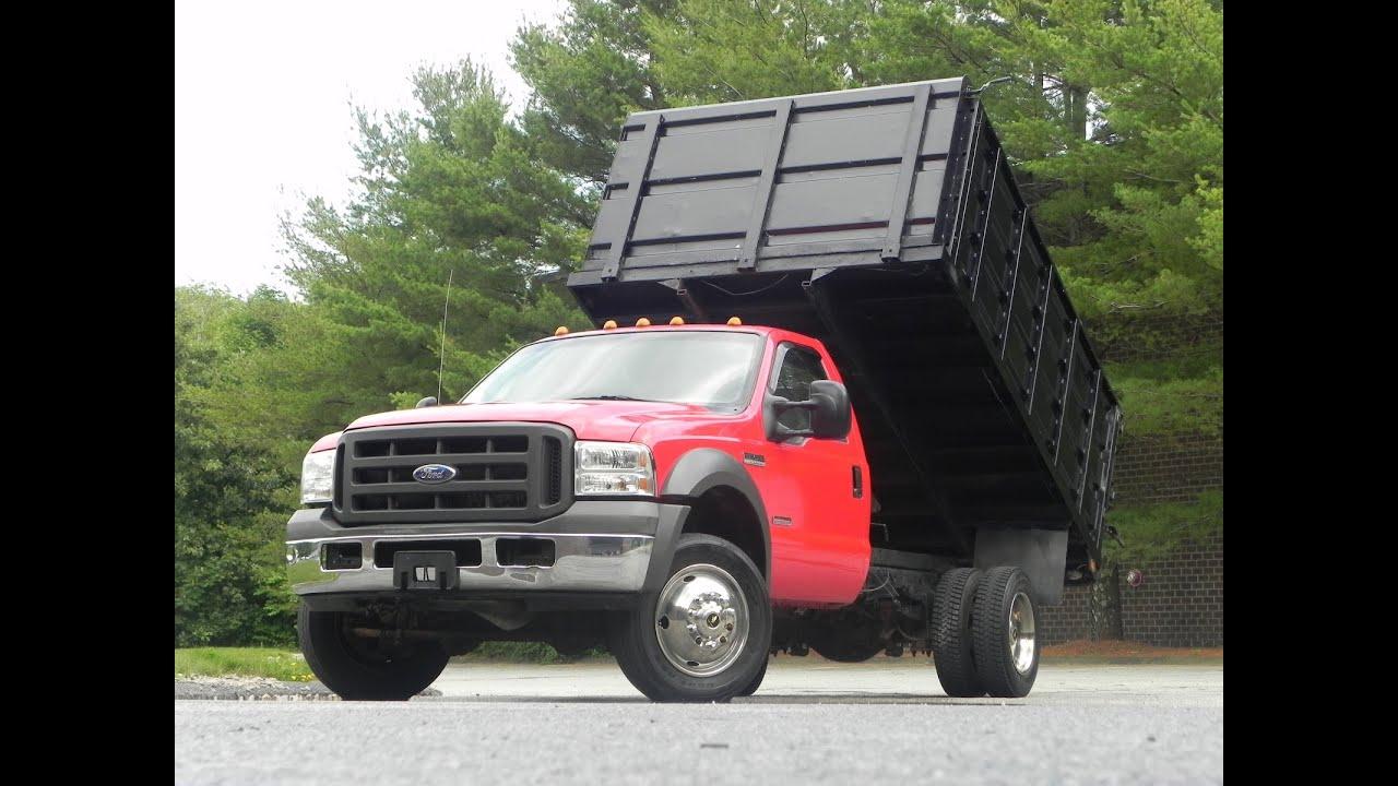 2005 Ford F-450 Xl Rack Body Dump Truck 6 0l Powerstroke Turbo Diesel