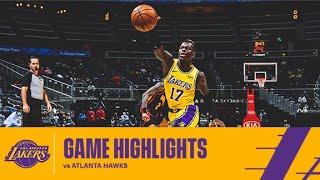 HIGHLIGHTS   Los Angeles Lakers Vs Atlanta Hawks