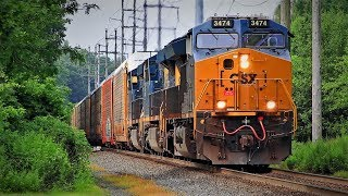 CSX River Subdivision Trains at Valley Cottage (7/19/19)