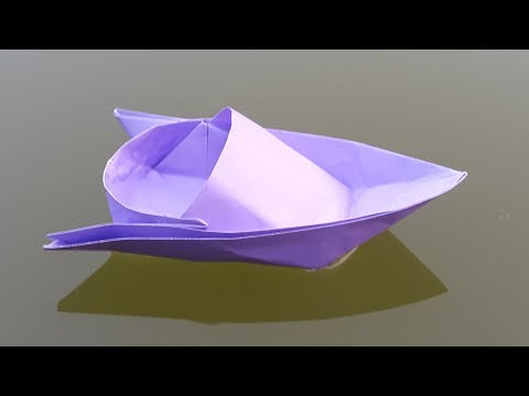 How to make a Paper Boat - Origami Speed Boat making instructions