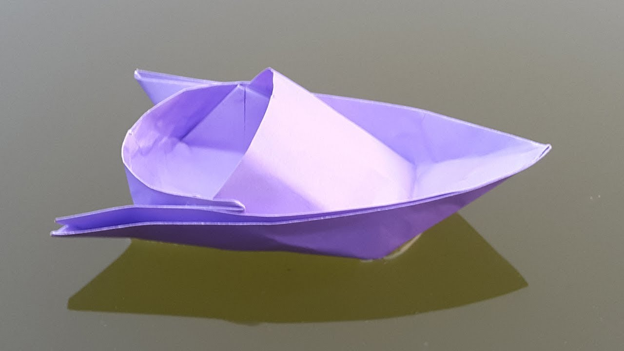 How to make a Paper Boat - Origami Speed Boat making ...