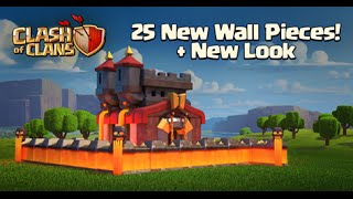 clash of clans- NEW LV11 WALLS AND NEW 25 WALLS SNEAK PEAKS #3