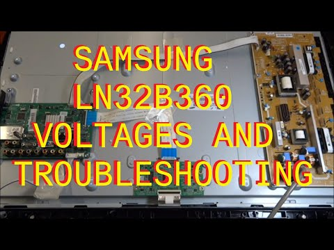 Samsung LN32B360 Voltages and Troubleshooting