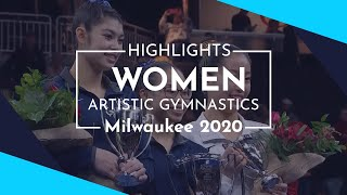 2020 Milwaukee Artistic Gymnastics World Cup – Highlights Women's competition