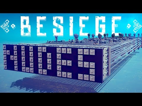 Besiege Best Creations - Reinhardt From Overwatch - A Besiege Picnic & More! - Besiege Gameplay