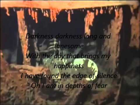 Wreck of the R.M.S Titanic. Darkness, Darkness with lyrics