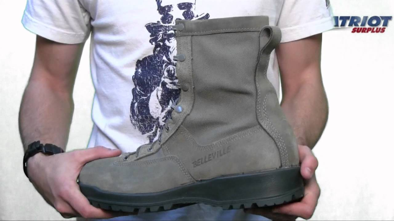 f723f5596228 Belleville - 690 - Waterproof Sage Green Flight Boot -- USAF - YouTube