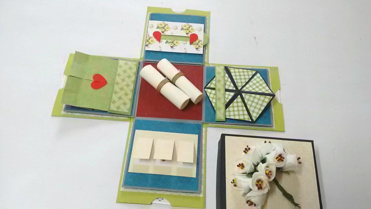 diy wedding photo album ideas - Mini Explosion Box Tutorial by Srushti Patil