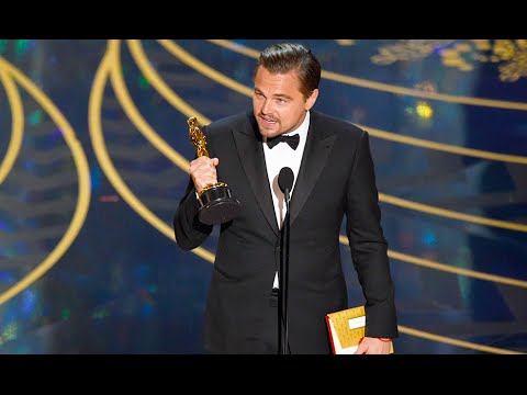 Leonardo DiCaprio Wins Oscar Best Actor for The Revenant (Le