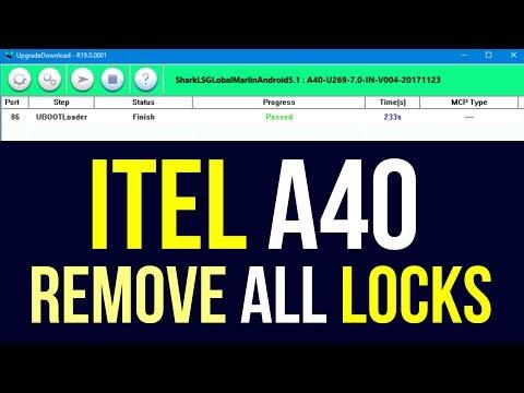 REMOVE ALL LOCKS ITEL A40