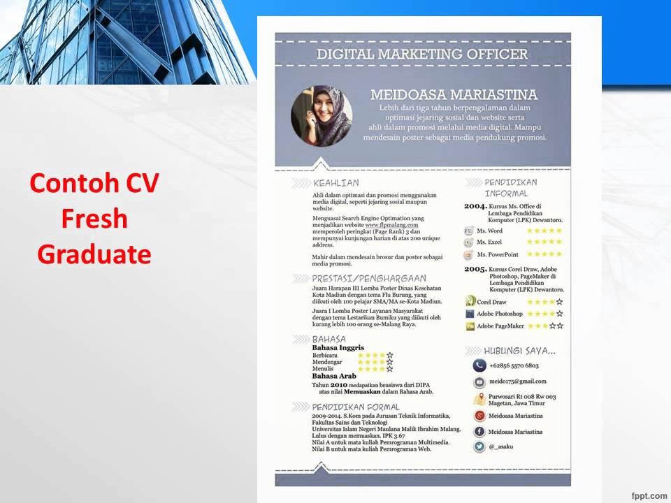 081 555 88 2600 (indosat) Contoh CV Fresh Graduate Baru ...