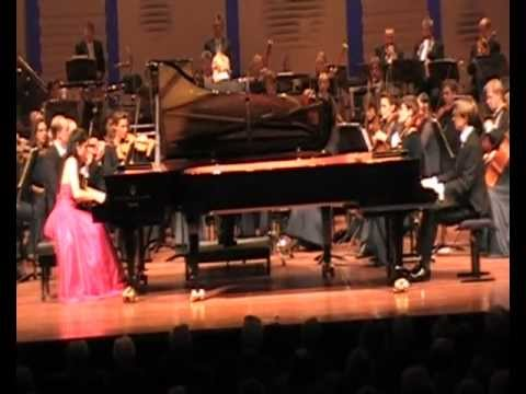 The Scholtes-Janssens Piano Duo plays Poulenc concerto for two pianos and orchestra - 2nd movement