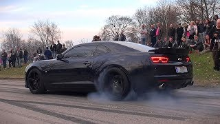 Gambar cover HELLA MEAN Gen5 Camaro SS - BURNOUT AND CRAZY EXHAUST SOUND!!
