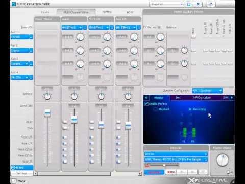 Creative Soundblaster X-Fi Audio Creation Mode Tutorial