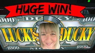 $2 denom - Lucky Ducky - Huge win! Max bets and red screens!