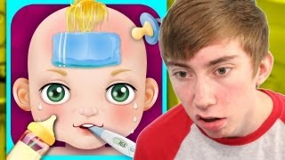BABY CARE & BABY HOSPITAL - KIDS GAMES (iPhone Gameplay Video)